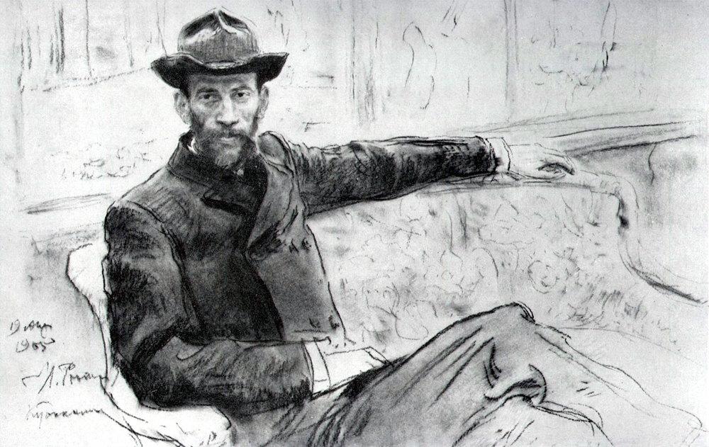 Ilja Repin - Lev Lvovitsj Tolstoj