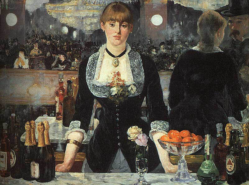E. Manet - Een bar in de Folies-Bergère. (1882)