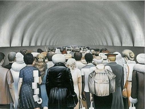 Soendoekov wc-papier Moskou metro schilder schilderij Sovjetunie