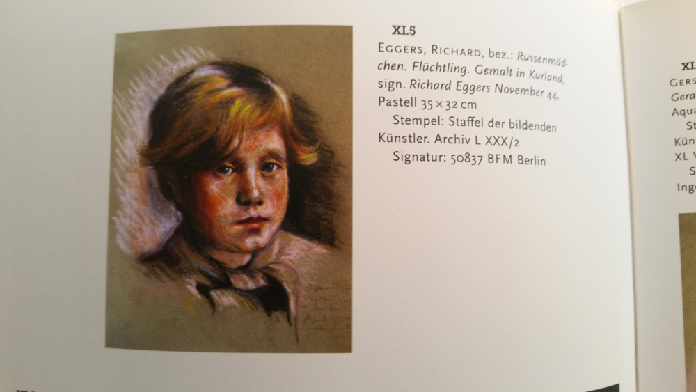 Richard Eggers - Russenmädchen, Flüchtling. Gemalt in Kurland. 1944 (Foto uit catalogus)