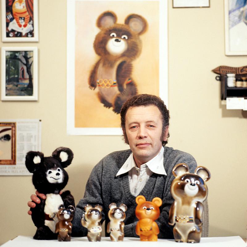 Misjka Tsjizjikov Olympische Spelen 1980 Moskou beertje ontwerp auteursrechten
