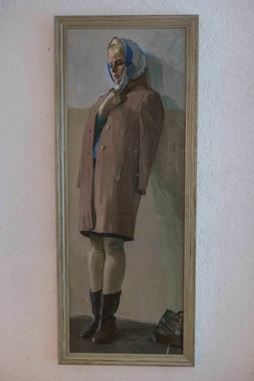 Grigori Kravtsjenko schilderij studente Russische
