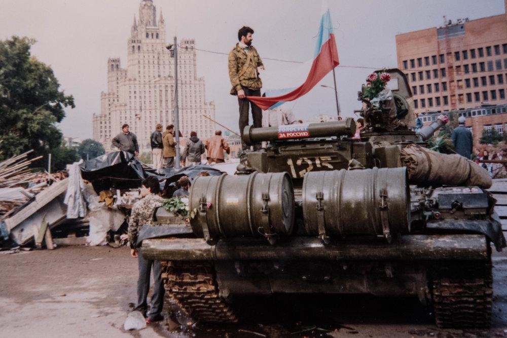 tanks USSR Sovjetunie Rusland Moskou 1991