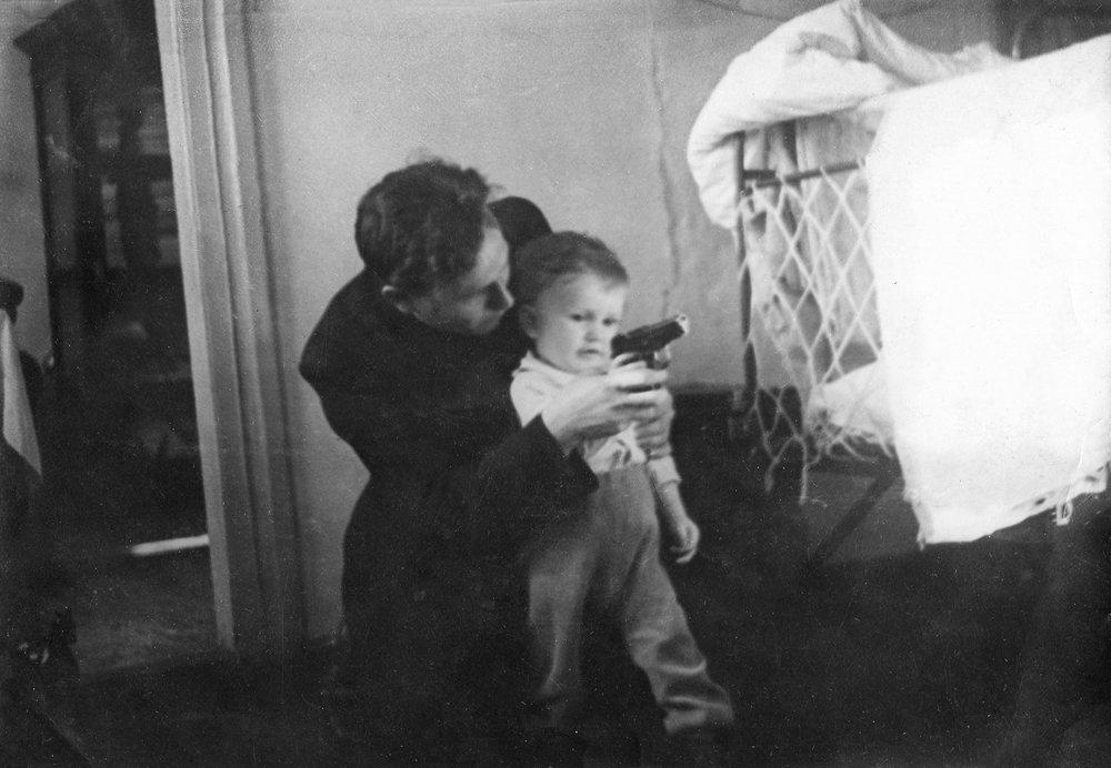 Niloaj Zyrjanov met zijn zoontje
