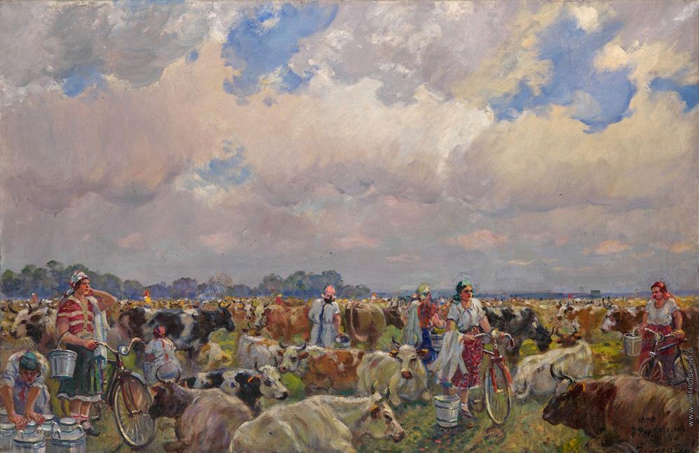 Gerasimov kolchoz Russische schilder Sovjetunie Stalin