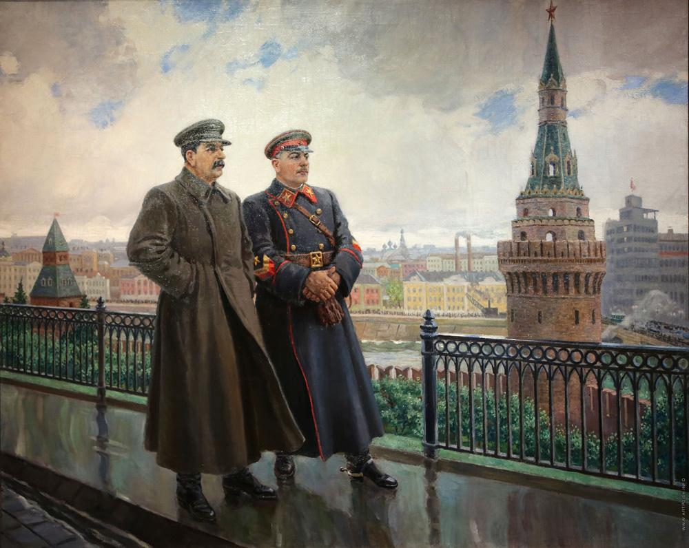 Stalin Vorosjilov Kremlin bres voor de vrede Gerasimov