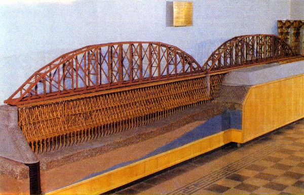 Model van de spoorbrug over de Jenisej