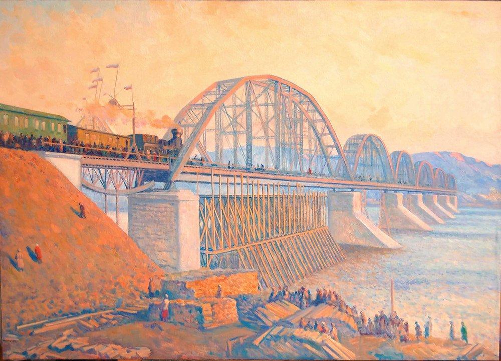 De brug over de Jenisej