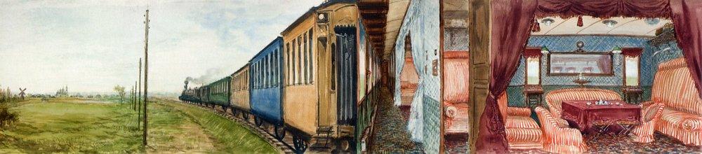 Luxe wagon 'opengeklapt'.