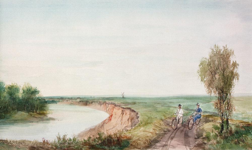 Pavel Pjasetski op de fiets