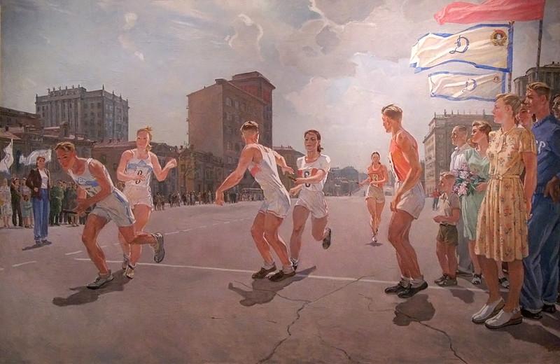 A. Dejneka: Estafette op Ringweg B (1947)