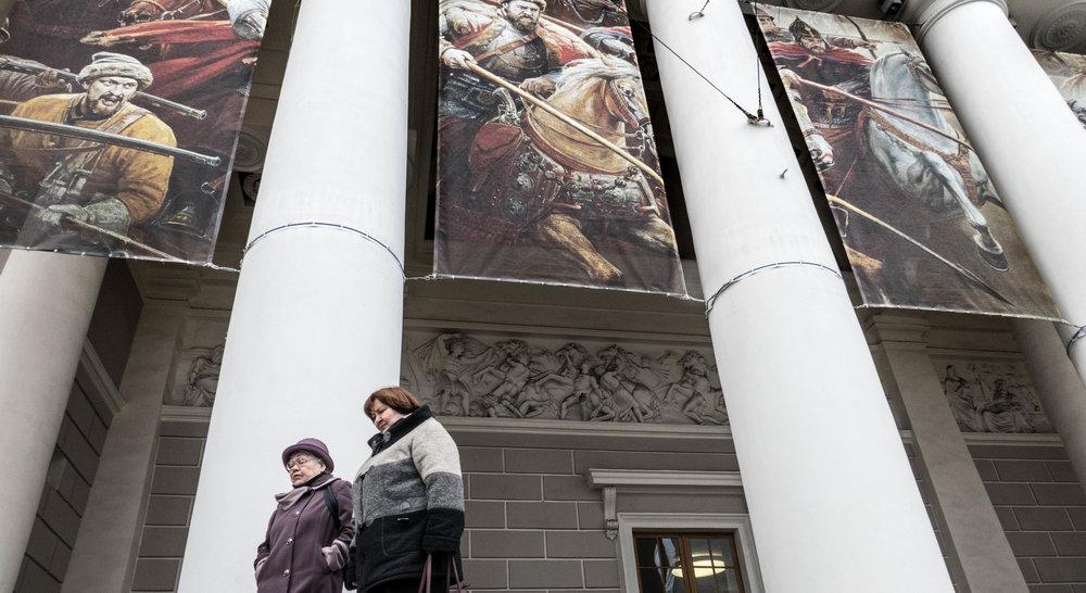 De Manege, waar een tentoonstelling gaande was van Vasili Nesterenko.