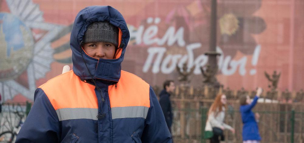 Veel stratenvegers en schoonmakers komen uit de voormalige Aziatische Sovjet-republieken.