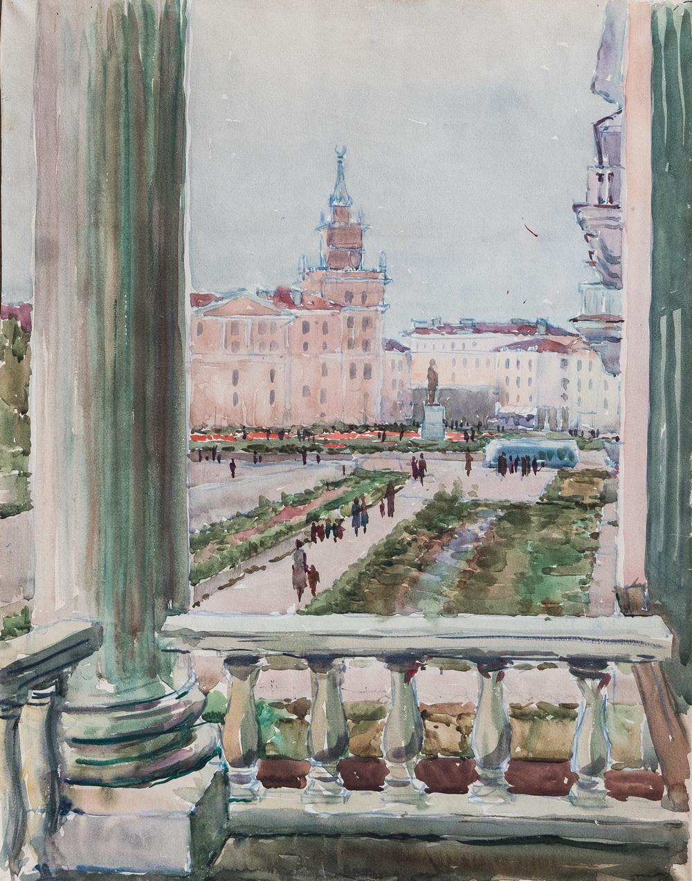 Nikolaj Ivanov - Zicht op het Leninplein