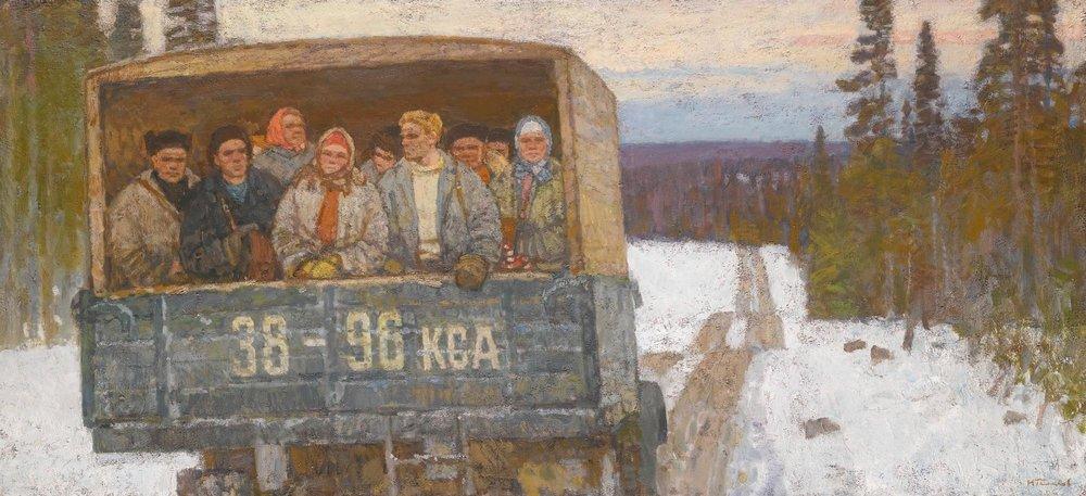 Галахов Николай Николаевич (Россия, 1928) «На лесозаготовку».jpg