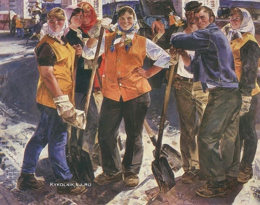 Vjatsjeslav Zjemerikin - wegarbeiders (1980)