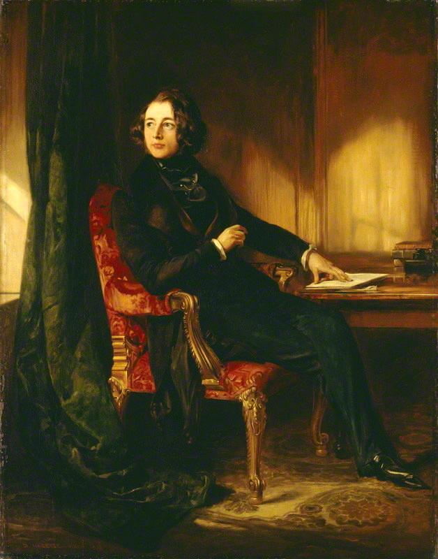 Daniel Maclise - Charles Dickens (1839)