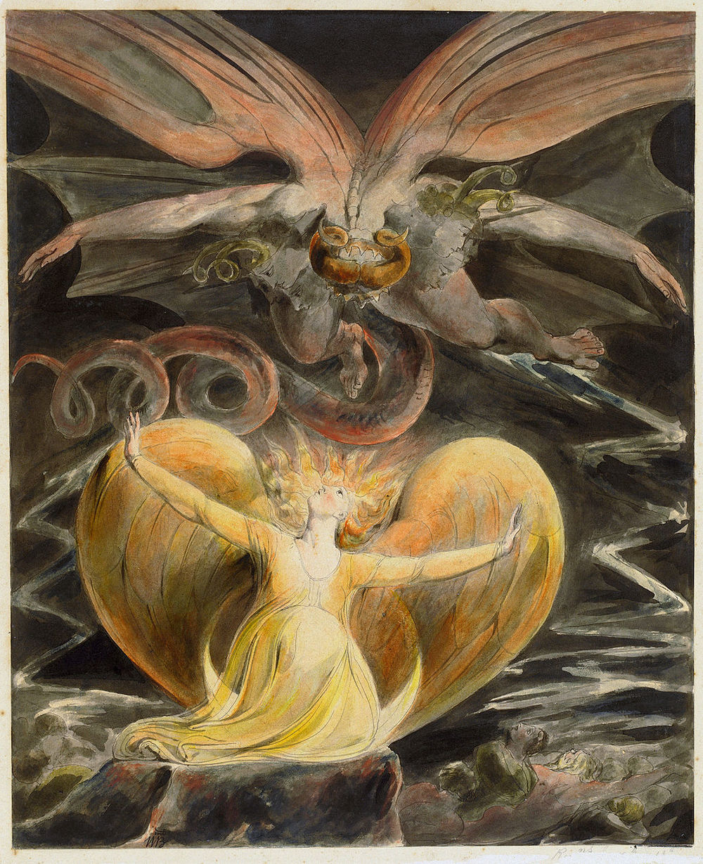 William Blake,  The Great Red Dragon and the Woman Clothed with the Sun  (early 1800s)