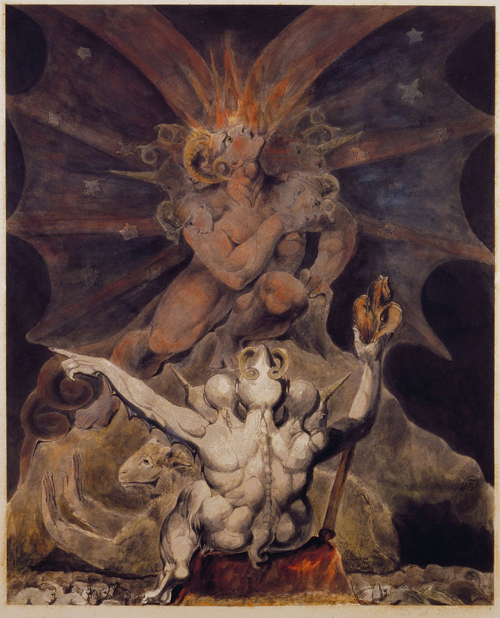 William Blake,  The Number of the Beast is 666  (early 1800s). Maybe a bit weird.  Elijah Goldsmith's dreams  had nothing on William Blake's.