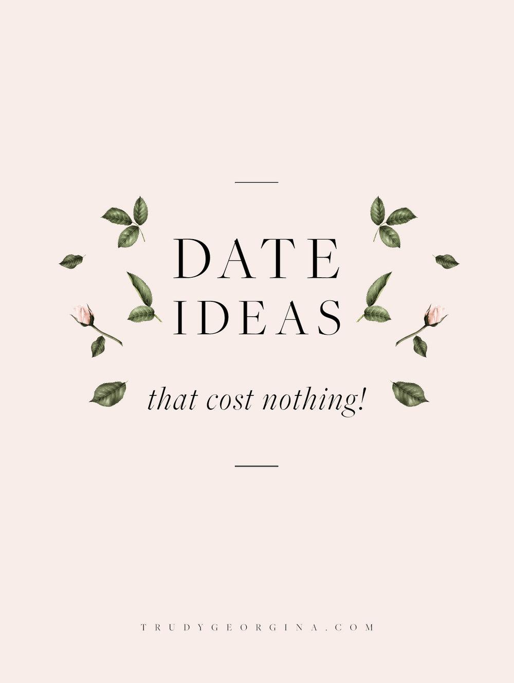 Free date ideas | trudygeorgina.com