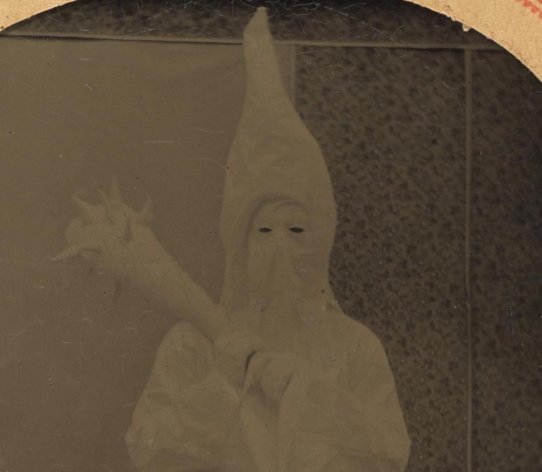Klu Klux Klansman In Full Costume, c  1869 — PiqueShow