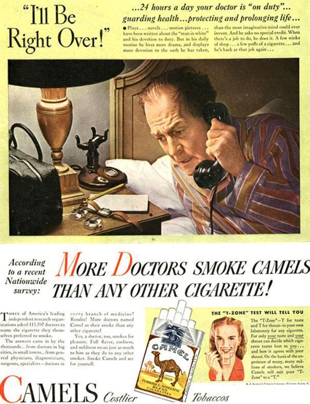 1946 ad for Camel cigarrettes