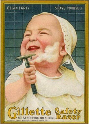 1905 ad for Gillette razors