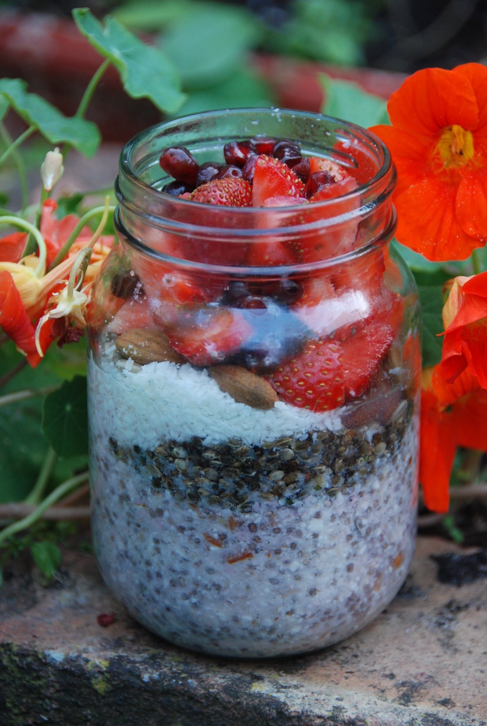 Berry & coconut breakfast jar