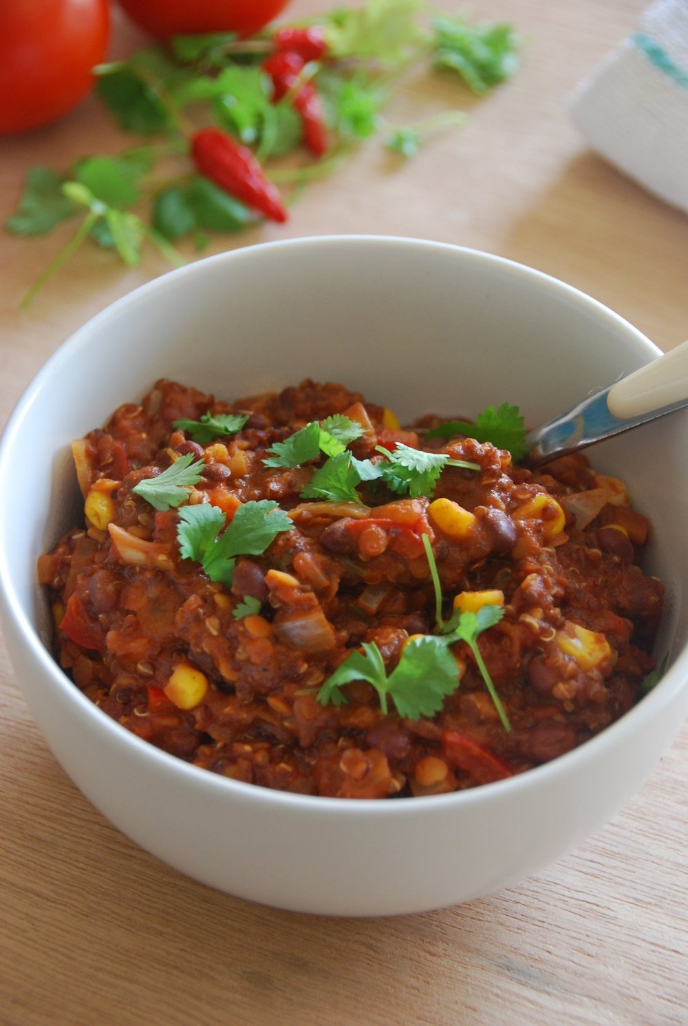 Quinoa & bean chilli
