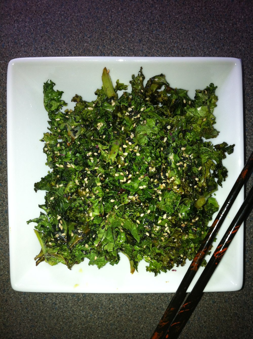Crispy Kale with sesame seeds