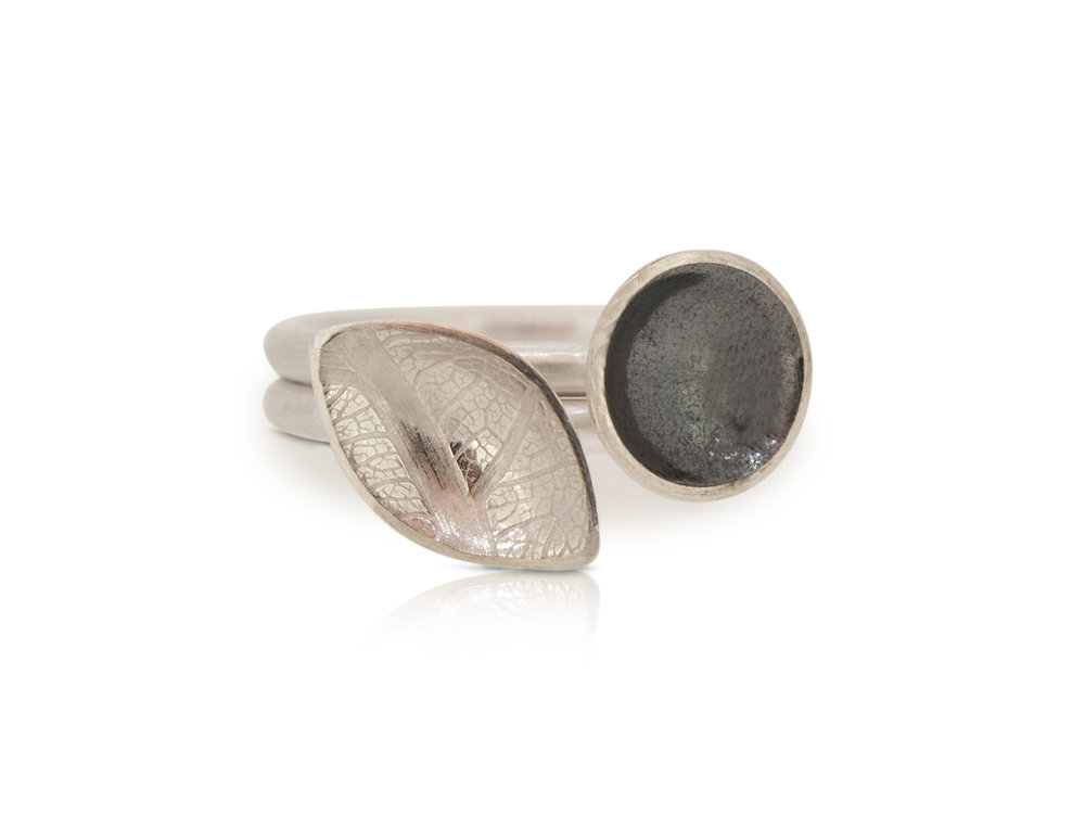 Pair of silver stacking rings