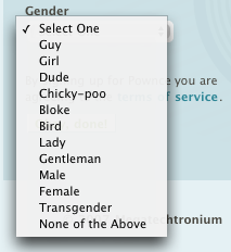 Pownce Gender