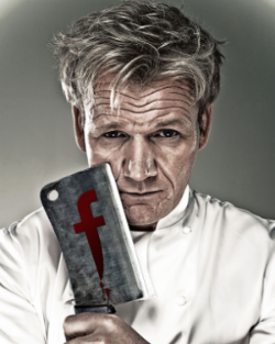 Gordon Ramsay, ready to carve your game up