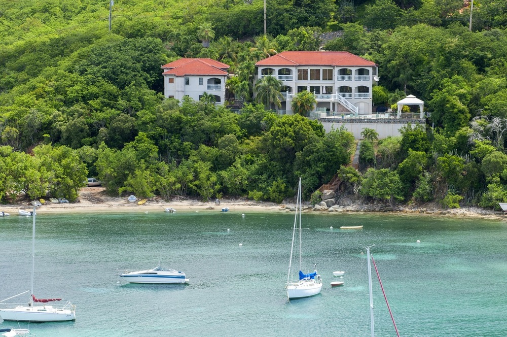 6 bedroom Beach Front Villa on St John for Large Groups and Families