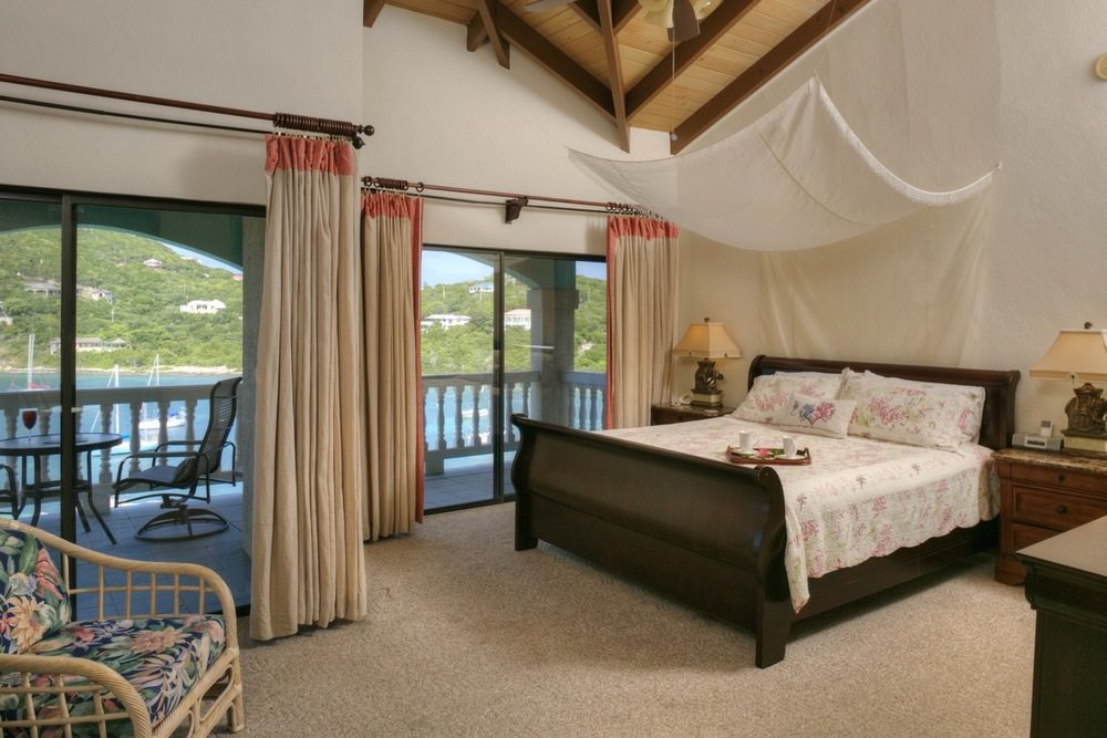 One of 6 master bedrooms at Villa St John