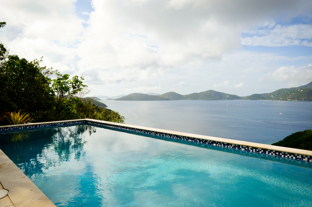 The views from this pool are arguably some of the best on St John.