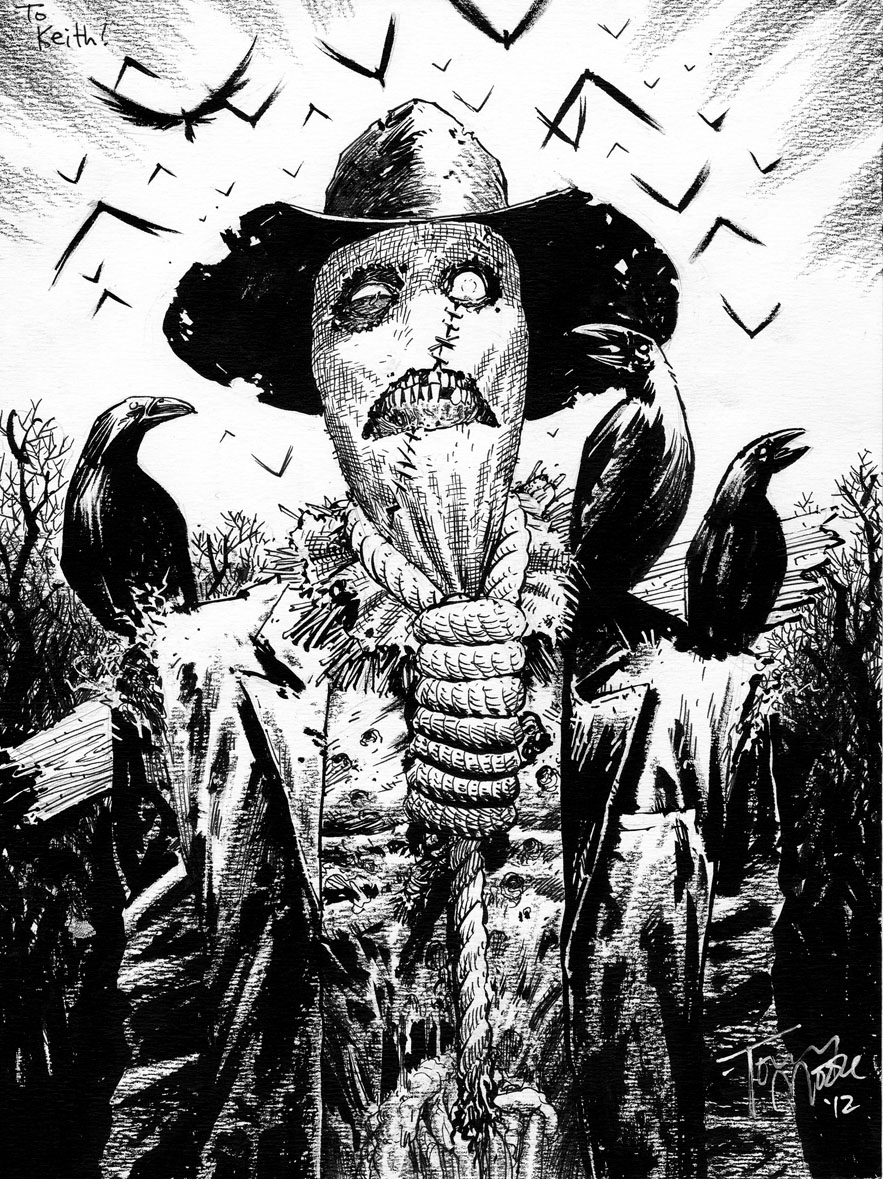 this Scarecrow zombie piece was a commission from Cherry Capital Con last weekend!