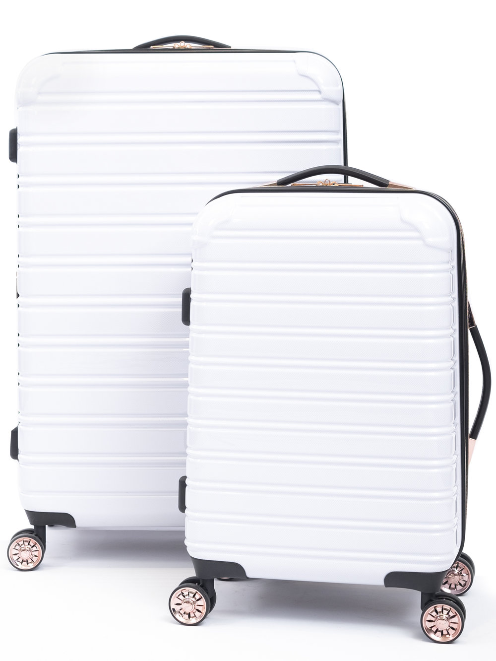 The Sweetest Lil Luggage Set - How cute are these? I LOVE our four wheeled suitcases. I   found outs at TJ Maxx but these cuties are at Walmart$120