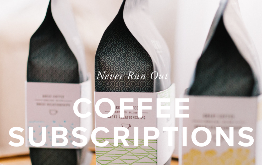 Coffee Coffee Coffee - Our favorite coffee in the world (and Lord knows we've tried just about all of it) is made at home in Nashville, TN. Join their subscription and never wake up without coffee ever again.[Prices vary depending on subscription]