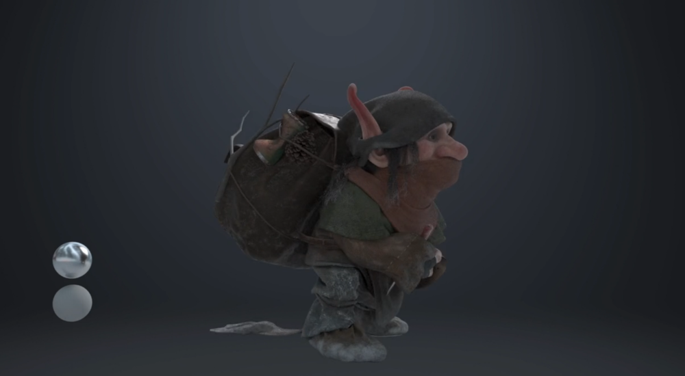 Trolling Around - A lot of time and effort went into the troll character itself. The asset creation process spanned around half of the project timeline, although not active for 100% of this time period. All cloth garments were created using nCloth simulations and later touched up with displacement maps, which allowed for clean and deformable cloth geometry. Covering the entire character in cloth allowed the team to focus on larger animations, with secondary motion and deformations realistically being taken care of, and the added bonus of not having to render as many complex materials!