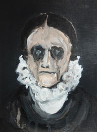 Corinna Spencer, Mourning Portrait No. 1, 2015 Acrylic on paper