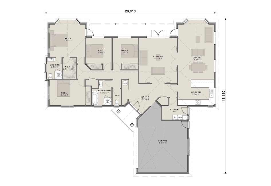 The Oakleigh floor plan