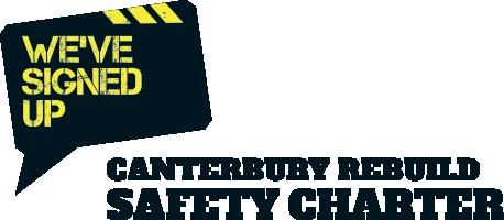 Canterbury Rebuild Safety Charter Logo