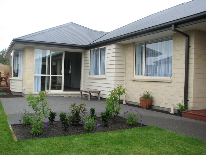 Anne and Robins new Today Homes' home in Kaiapoi