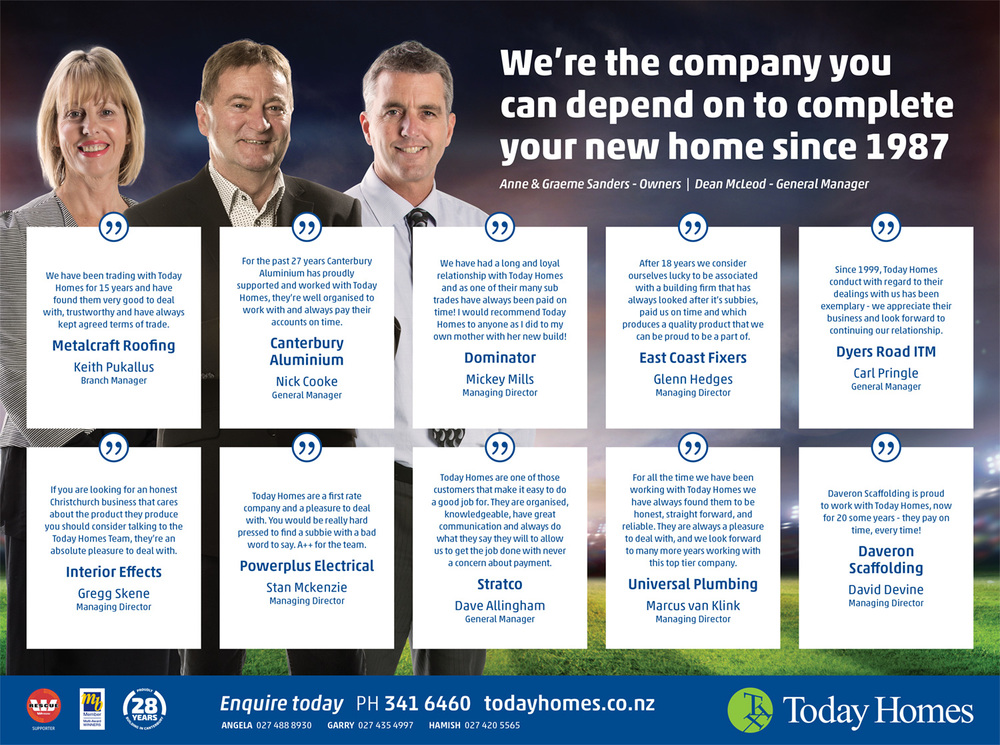 We're the company you can depend on to complete your new home since 1987