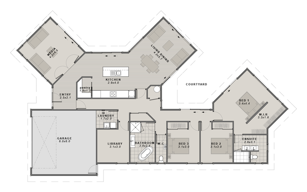 The Maddison Floorplan