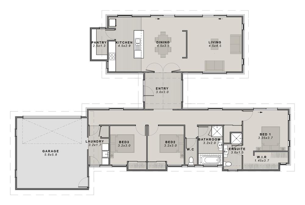 The Haast monopitch Floor plan