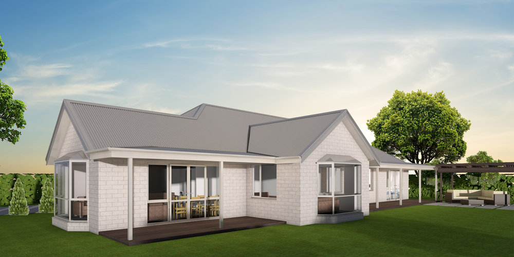 - The Ashley could well be your dream home! The timeless design with its classic bay window and verandah make this four bedroom home perfect for a rural setting or lifestyle block.