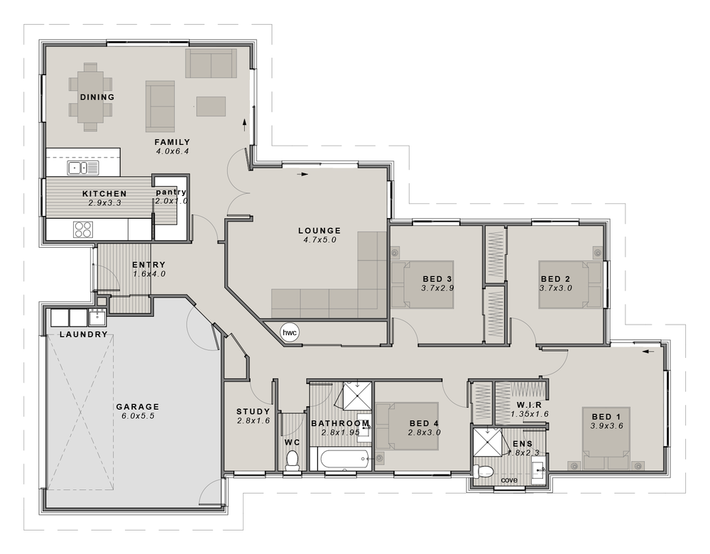 The Lyford Floorplan