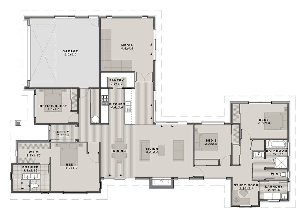 The Ohoka Showhome Floorplan